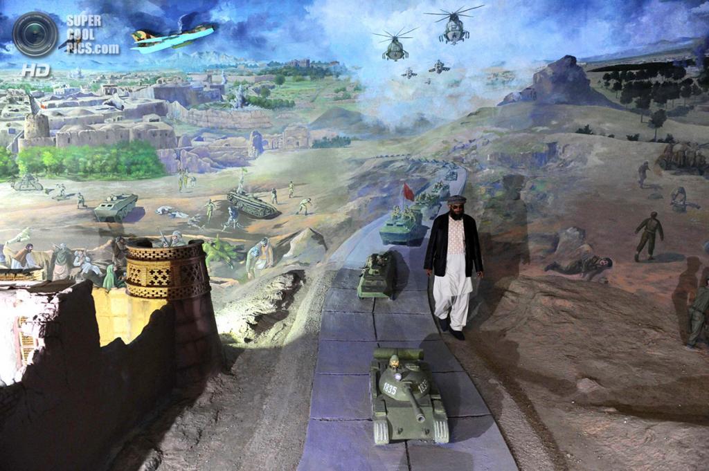 Афганистан. Герат. 15 февраля. Шейх Абдуллах среди батальной сцены. (Aref Karimi/AFP/Getty Images)