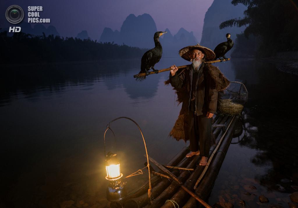 Рыбак с бакланами на живописной реке Лицзян. Место съёмки: Гуанси, Китай. Номинация: National Awards, Австралия, 1 место. (Neville Jones/2014 Sony World Photography Awards)