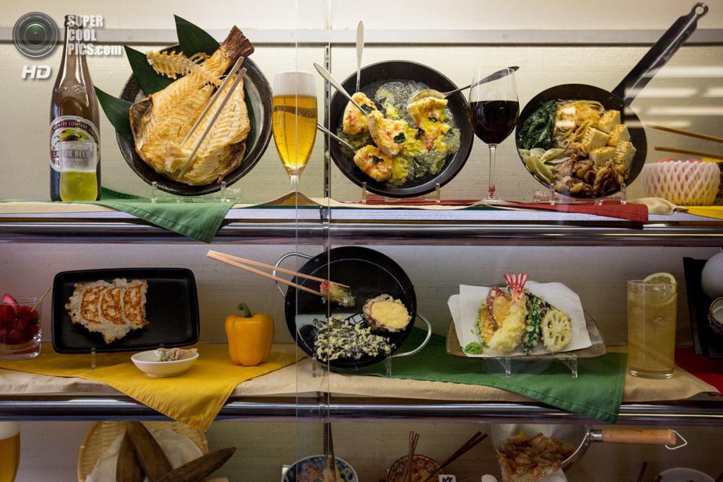 Япония. Йокогама, Канагава. 3 марта. Витрина с готовыми блюдами из винила. (Chris McGrath/Getty Images)