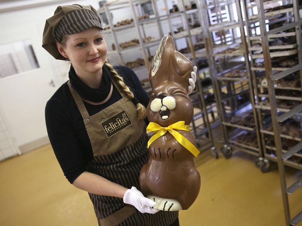 Шоколадные зайцы из Хорнова (10 фото)