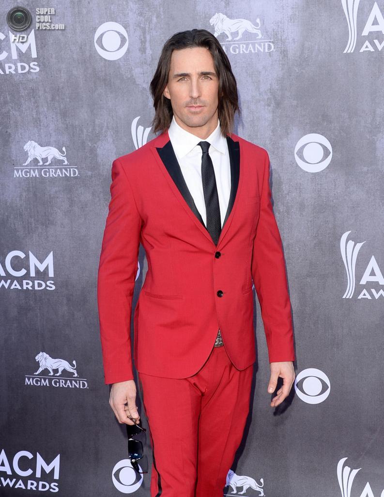 США. Лас-Вегас, Невада. 6 апреля. Певец Джейк Оуэн на красной дорожке ACM Awards 2014. (Jason Merritt/Getty Images)