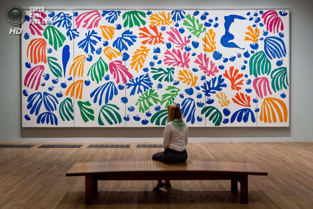 Великобритания. Лондон. 14 апреля. Картина «La perruche et la sirène» Анри Матисса в галерее «Тейт Модерн». (LEON NEAL/AFP/Getty Images)