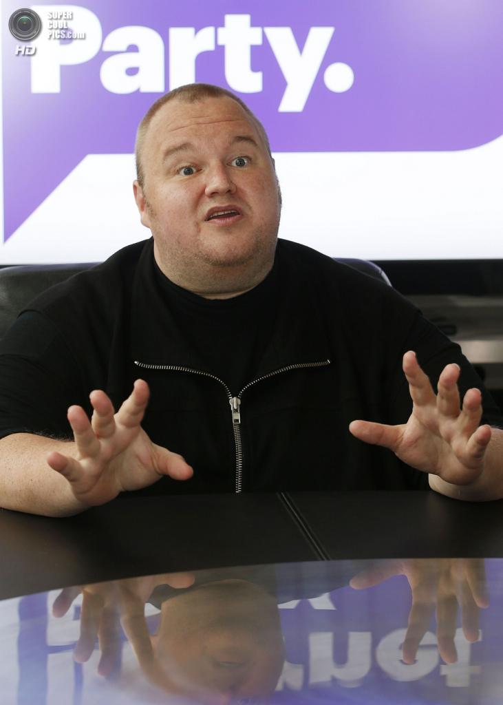 Новая Зеландия. Коутсвилл, Окленд. 13 апреля. Ким Дотком во время эксклюзивного интервью для агентства «Рейтер». (REUTERS/Nigel Marple)