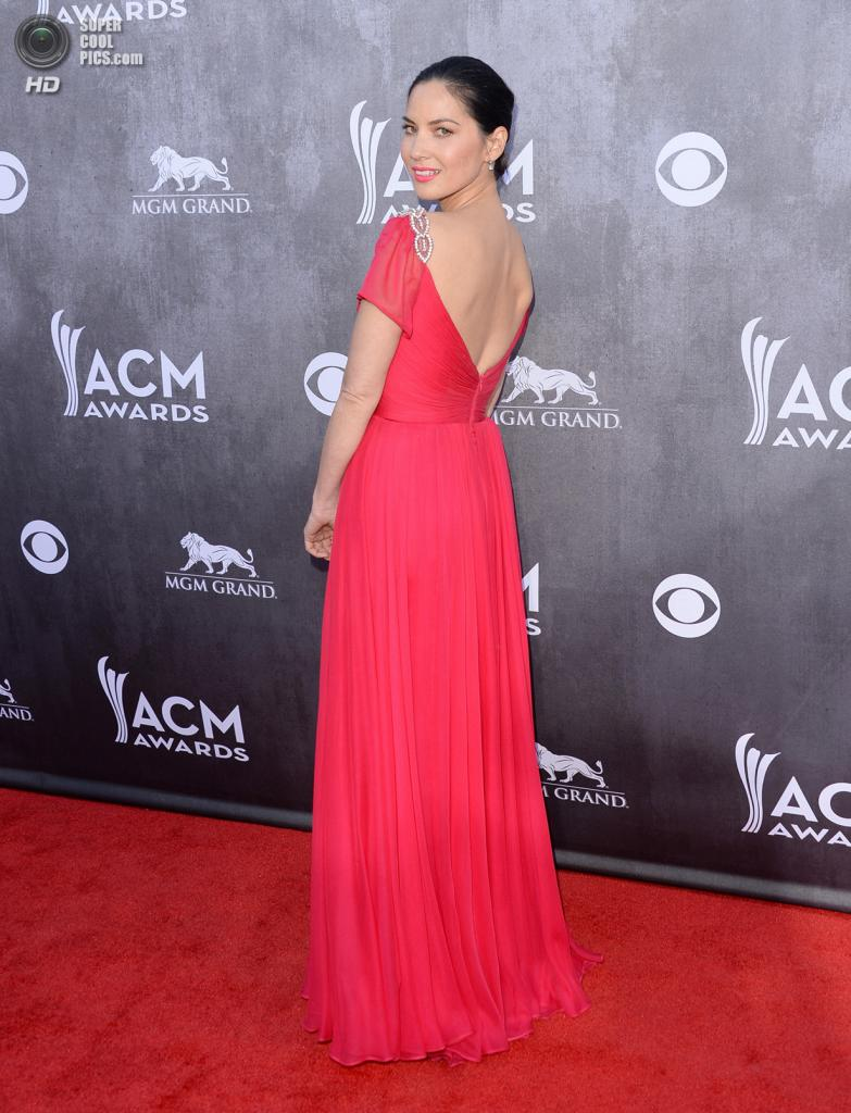 США. Лас-Вегас, Невада. 6 апреля. Актриса Оливия Манн на красной дорожке ACM Awards 2014. (Jason Merritt/Getty Images)