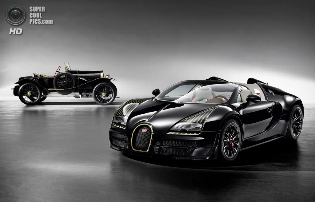 Bugatti Veyron 16.4 Grand Sport Vitesse «Black Bess» и Bugatti Type 18 «Black Bess». (Bugatti)