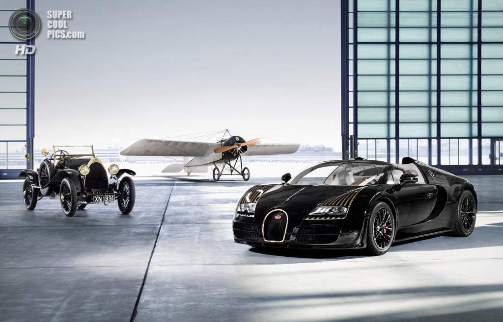 Bugatti Veyron 16.4 Grand Sport Vitesse «Black Bess», Bugatti Type 18 «Black Bess» и Morane Saulnier Type H. (Bugatti)