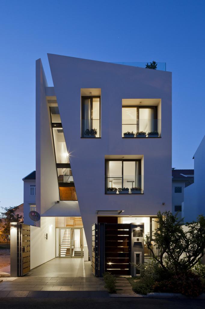 Дом со створчатым фасадом (20 фото)