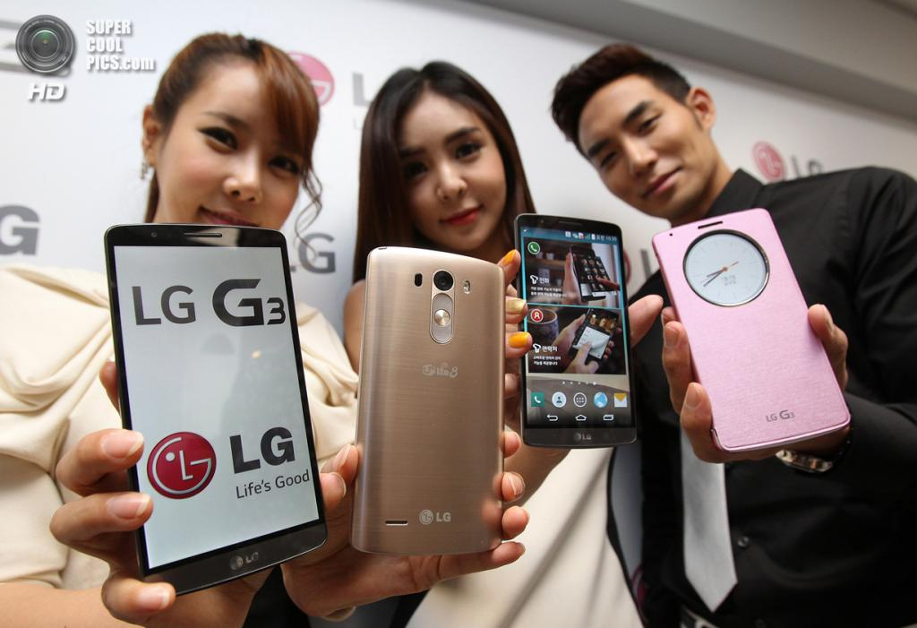 Южная Корея. Сеул. 28 мая. Презентация смартфона LG G3. (AP Photo/Ahn Young-joon)