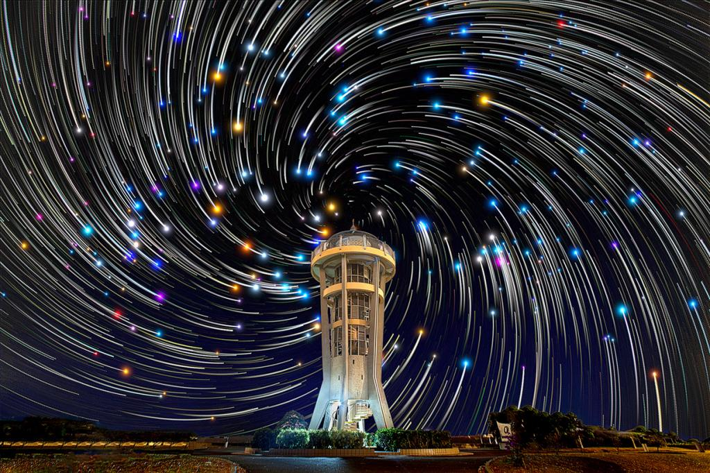 Amazing Star Trails Pictured In The Night Sky