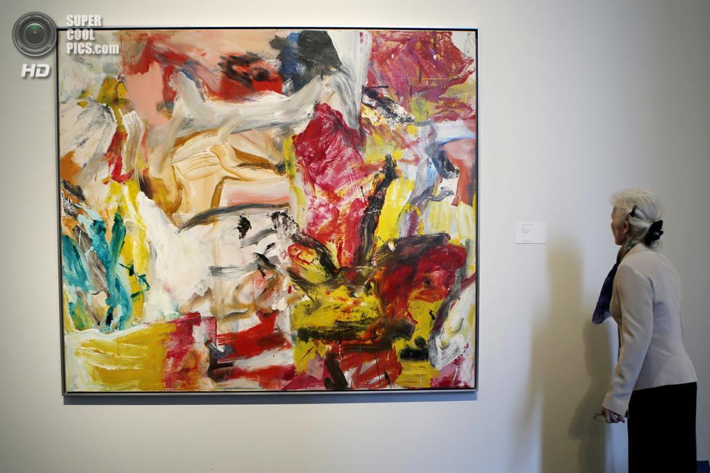 США. Нью-Йорк. 2 мая. Картина Виллема де Кунинга «Untitled» на выставке аукционного дома «Сотбис». (REUTERS/Eduardo Munoz)