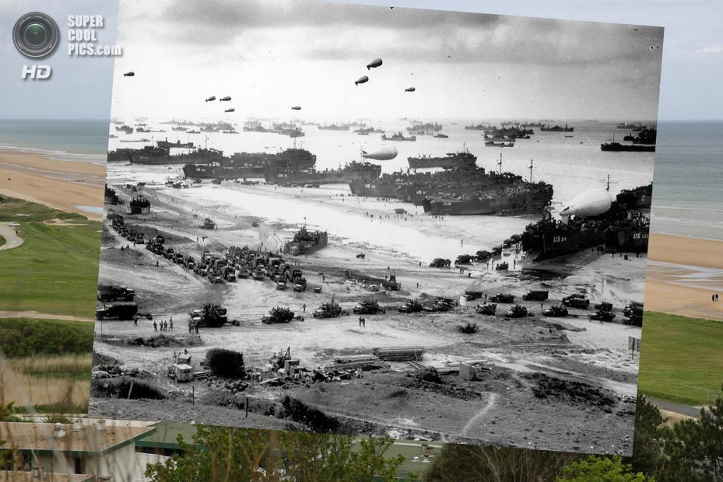 Высадка союзников на пляже Омаха. (Peter Macdiarmid/Getty Images; Galerie Bilderwelt/Getty Images)
