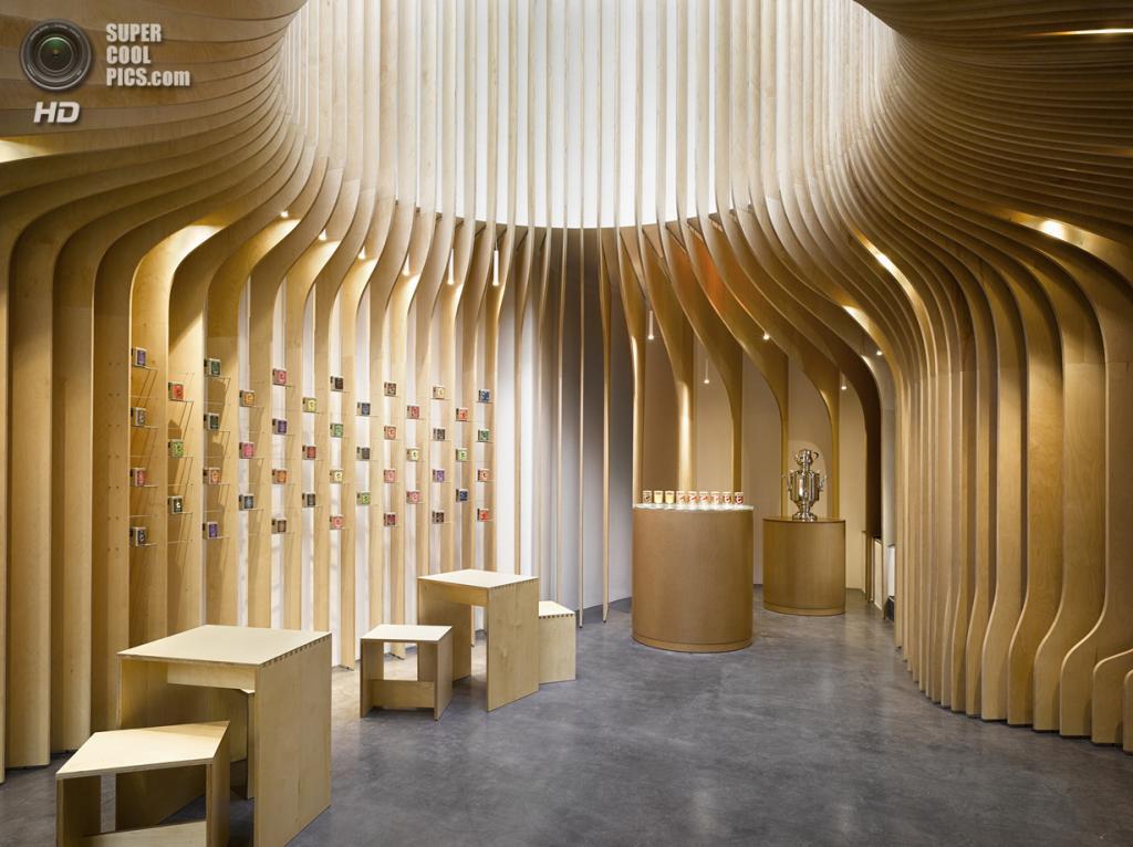 Чехия. Прага. Чайный магазин T-Boutique, спроектированный Studio p.h.a. (Filip Šlapal)