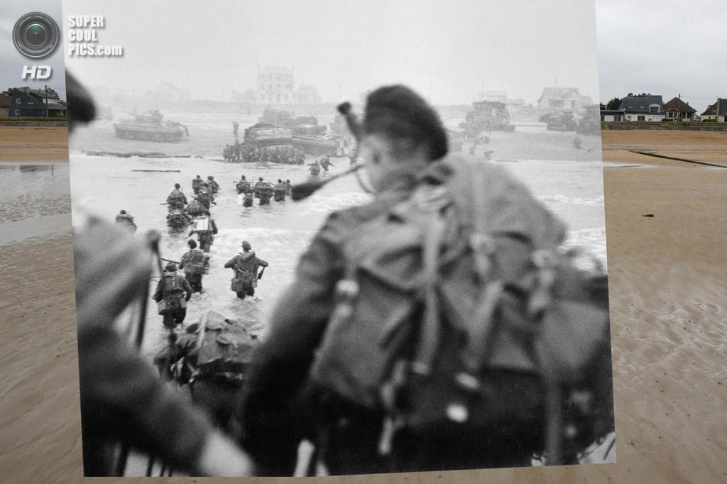 Высадка союзников на пляже Сорд. (Peter Macdiarmid/Getty Images; Galerie Bilderwelt/Getty Images)