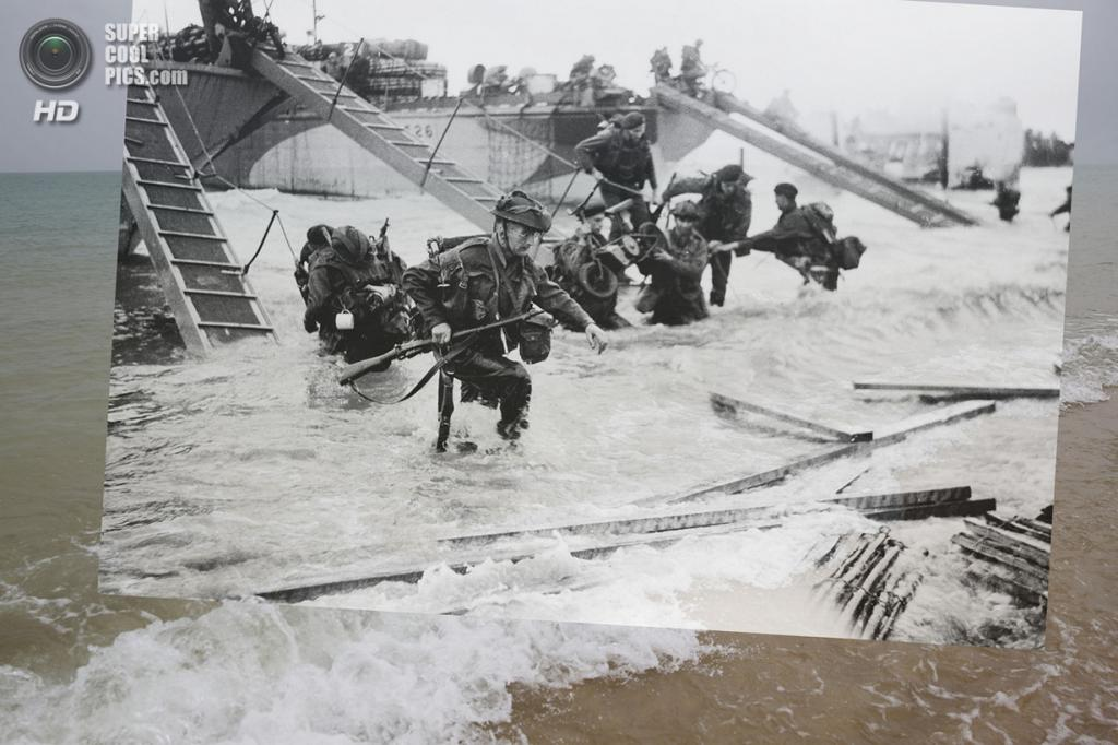 Высадка союзников на пляже Джуно. (Peter Macdiarmid/Getty Images; Galerie Bilderwelt/Getty Images)