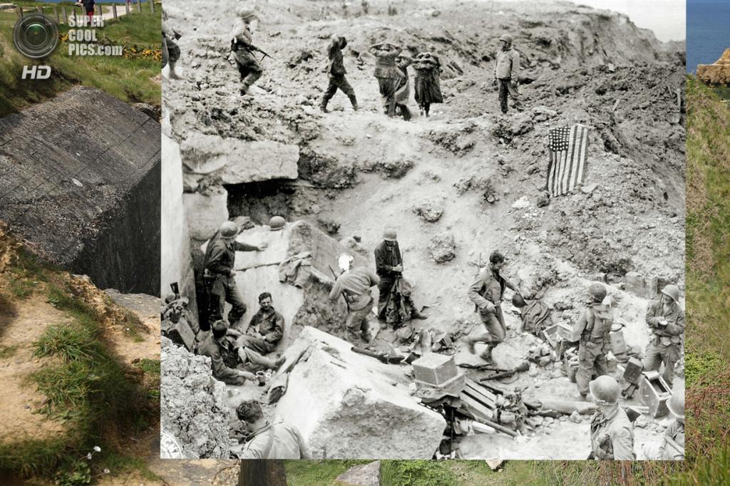 Союзники конвоируют немецких военнопленных на скале Пуэнт-дю-Ок. (Peter Macdiarmid/Getty Images; Galerie Bilderwelt/Getty Images)
