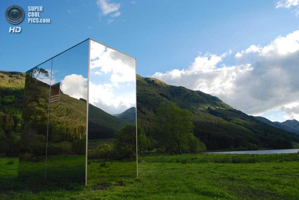 Великобритания. Стерлинг, Шотландия. Кабина Lookout, спроектированная Angus Ritchie + Daniel Tyler. (Ross Campbell)