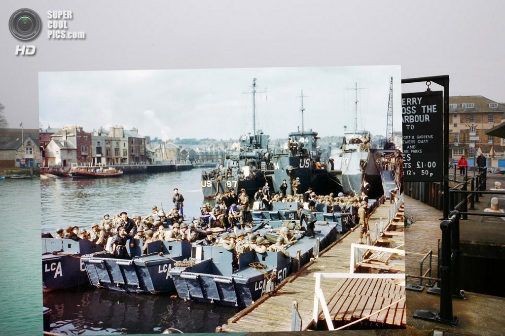 Союзники ждут команды к началу операции «Нептун» в Уэймуте. (Peter Macdiarmid/Getty Images; Galerie Bilderwelt/Getty Images)