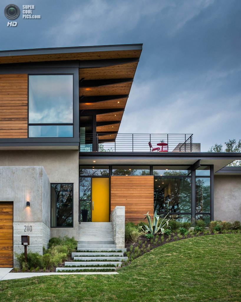 США. Остин, Техас. Частный дом Paramount Residence, спроектированный A Parallel Architecture. (Topher Ayrhart)