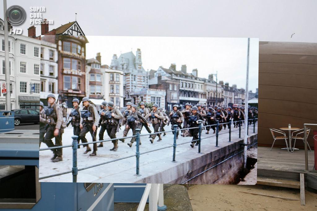 Союзники маршируют к побережью Ла-Манша. (Peter Macdiarmid/Getty Images; Galerie Bilderwelt/Getty Images)