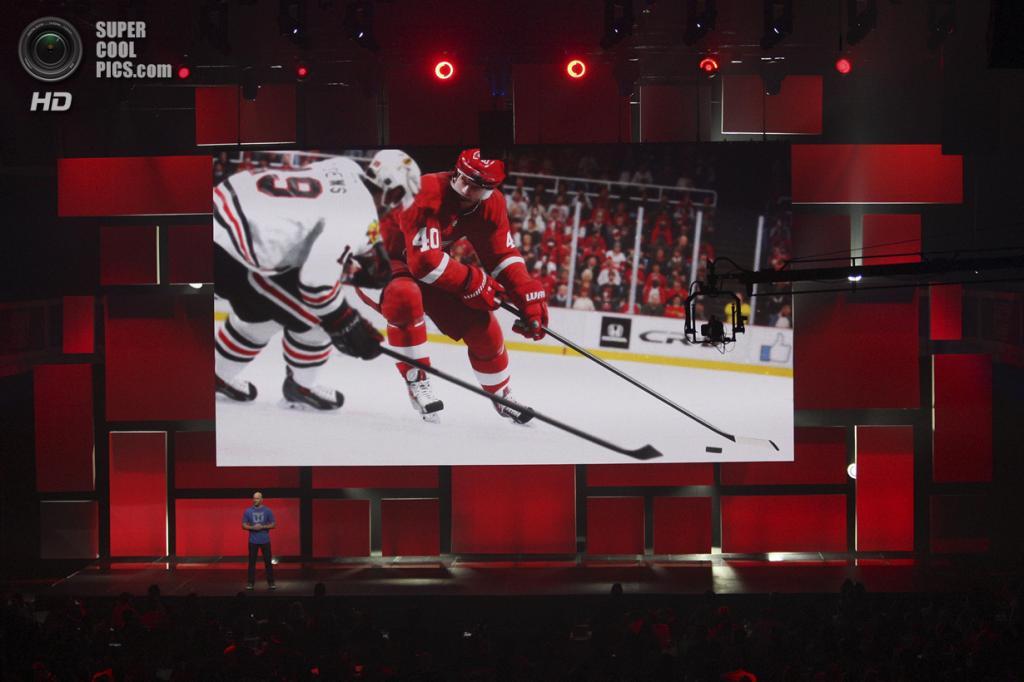 США. Лос-Анджелес, Калифорния. 9 июня. Презентация игры «NHL 15». (REUTERS/David McNew)