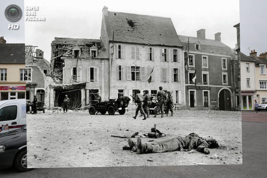 Тело мёртвого немецкого солдата в Тревьере. (Peter Macdiarmid/Getty Images; Galerie Bilderwelt/Getty Images)
