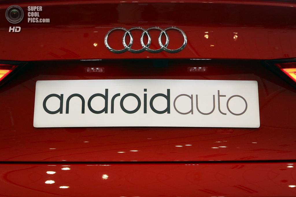 США. Сан-Франциско, Калифорния. 25 июня. Audi RS 7 Sportback на презентации технологии Android Auto. (REUTERS/Elijah Nouvelage)