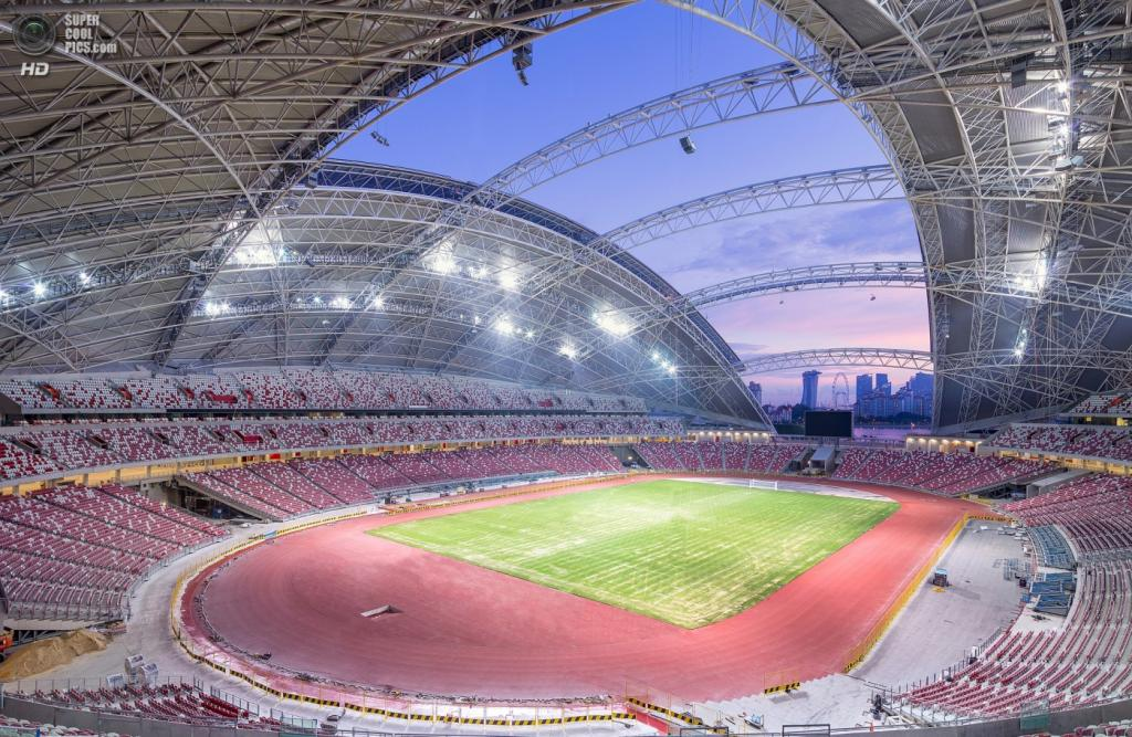 Сингапур. Спортивный комплекс Singapore Sports Hub, спроектированный DP Architects. (DP Architects)