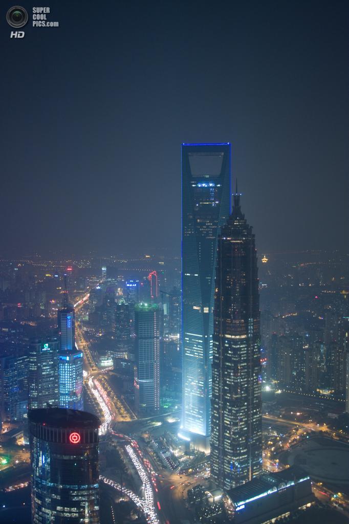 2. Шанхайский всемирный финансовый центр, Шанхай. Высота: 492 м. Введение в эксплуатацию: 2008 год. (Jonathan Burr)
