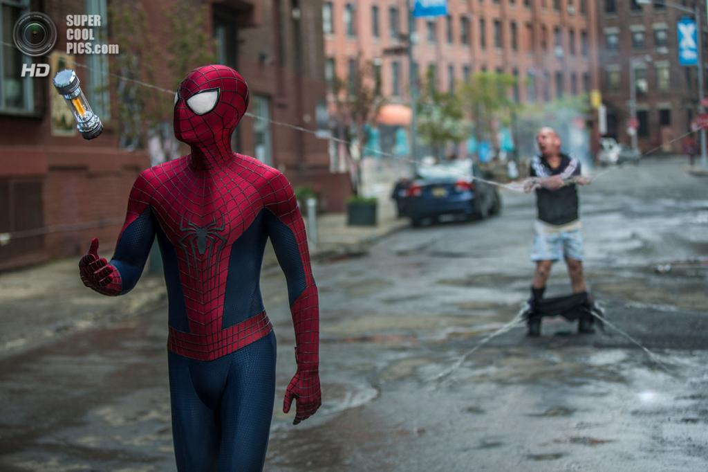 2. «Новый Человек-паук. Высокое напряжение». Режиссёр: Марк Уэбб. Бюджет: $200 млн. Премьера: 24 апреля. (Niko Tavernise/Columbia Pictures)