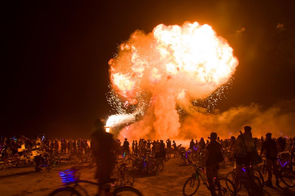 США. Невада. Пустыня Блэк-Рок. Во время фестиваля Burning Man 2014. (Nico Aguilera)