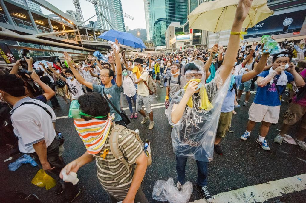 Китай. Гонконг. Во время «Революции зонтов». (Leung Ching Yau Alex)