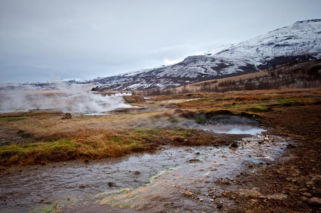 Исландия. Долина Хаукадалур. Гейзер. (Mark Turner)