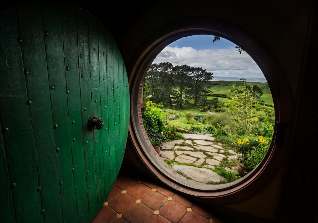 Новая Зеландия. Матамата. Хоббитон. Знаменитая нора Бильбо Бэггинса. (Trey Ratcliff)