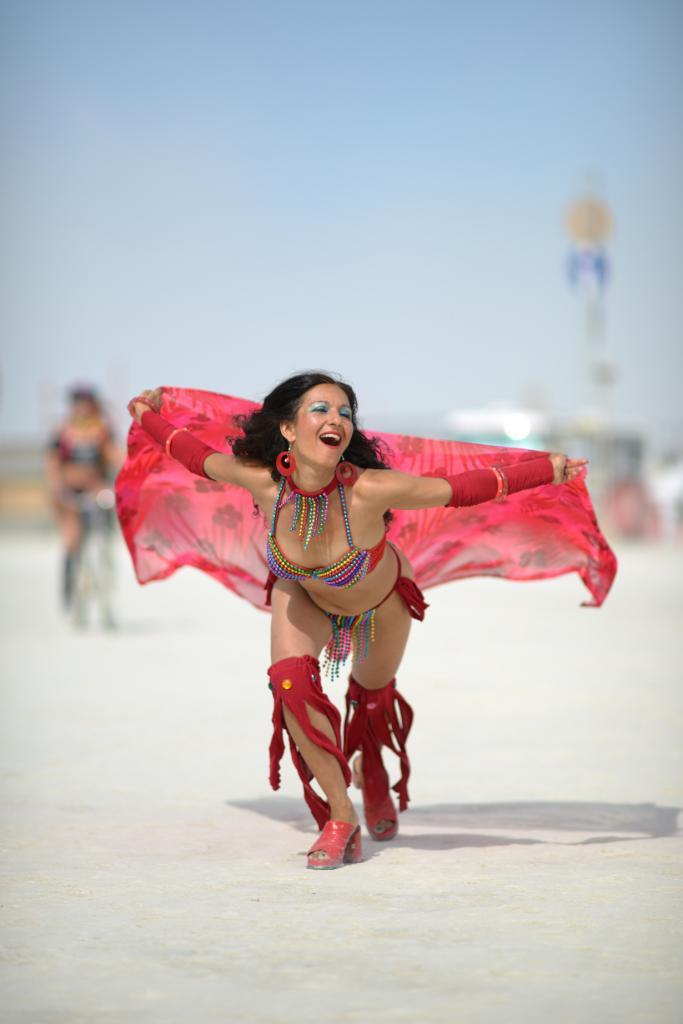 США. Невада. Пустыня Блэк-Рок. Во время фестиваля Burning Man 2014. (John Chandler)