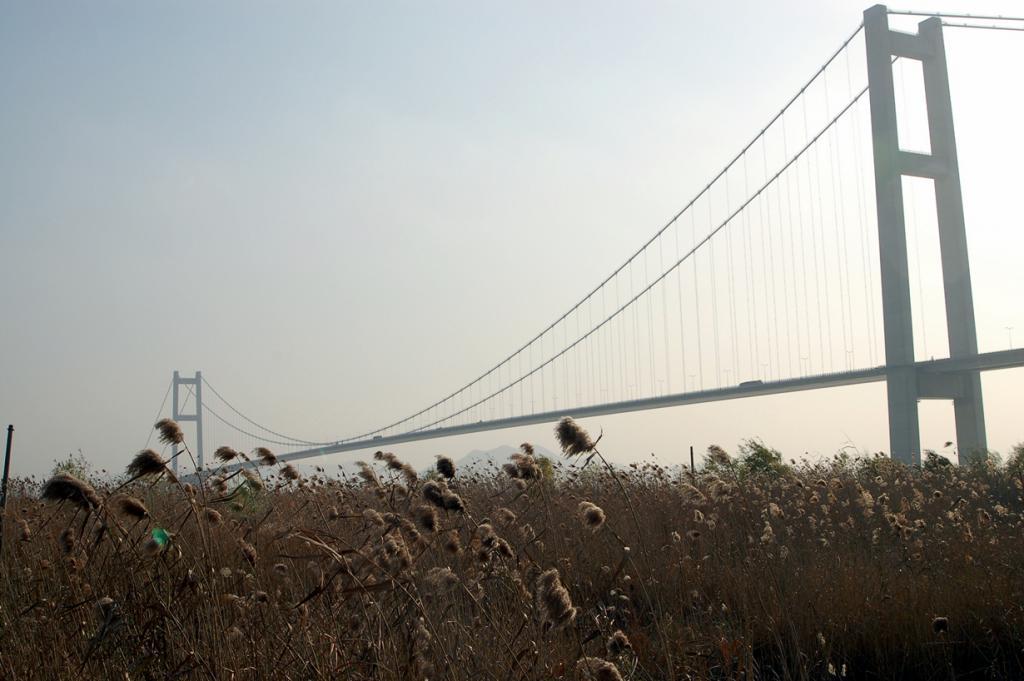 Китай. Мост Жуньян. Основной пролёт — 1 490 м. (sjiong)