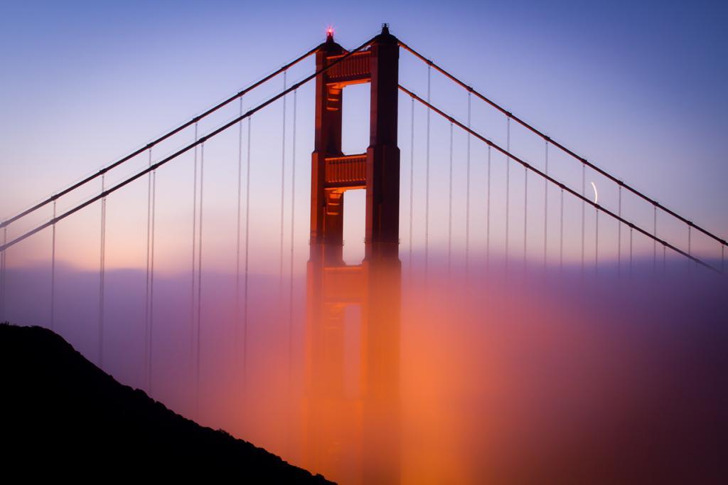 США. Мост Золотые Ворота. Основной пролёт — 1 280 м. (Christian Arballo)