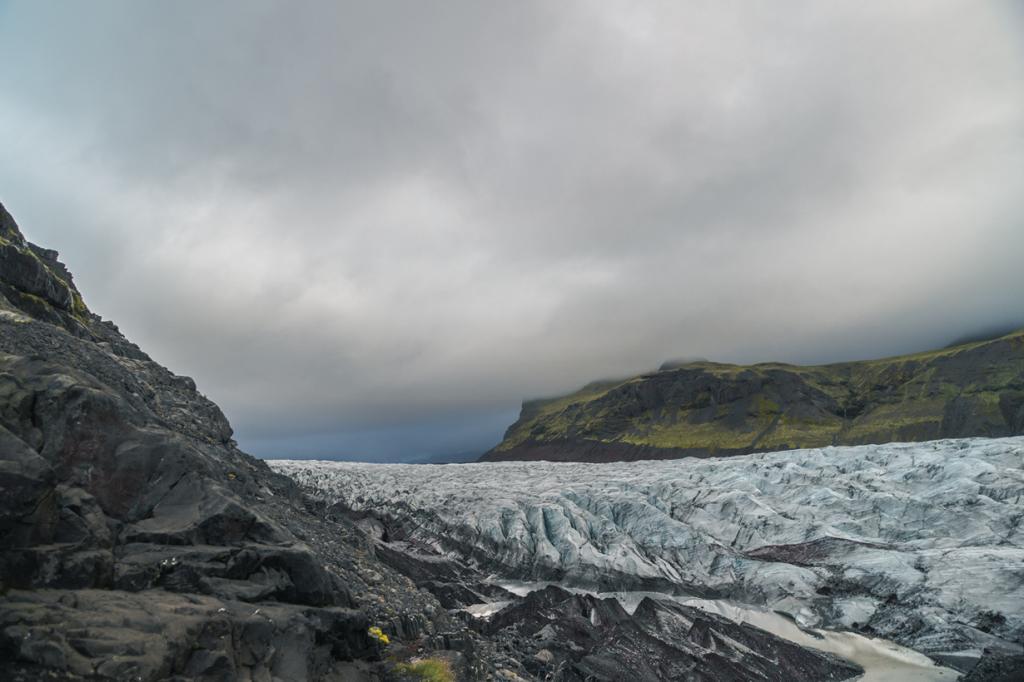 Endless Ice at the Svínafellsjökull Glacier Tongue