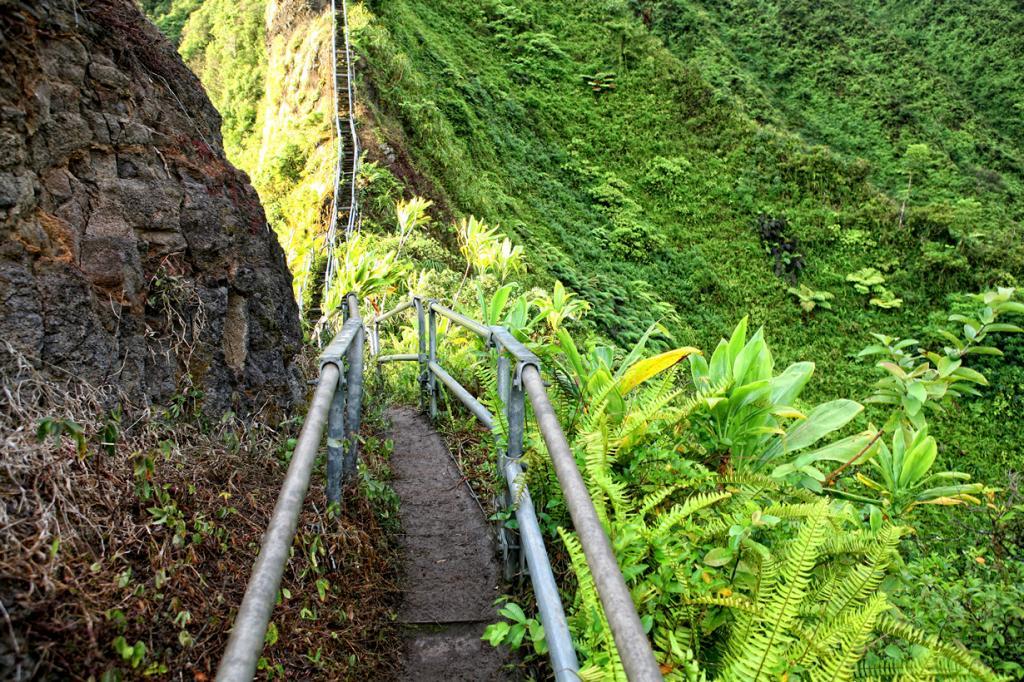 Гавайские острова. Оаху. Лестница Хайку. (Shawn Clover)