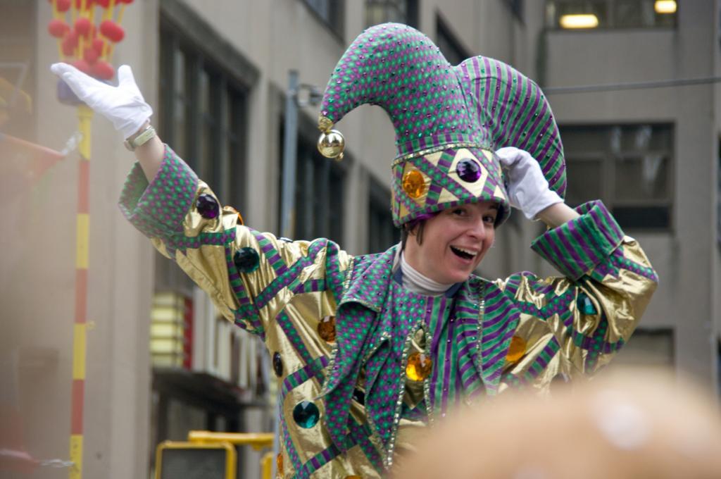 Во время парада в честь Дня благодарения. (Selbe B)