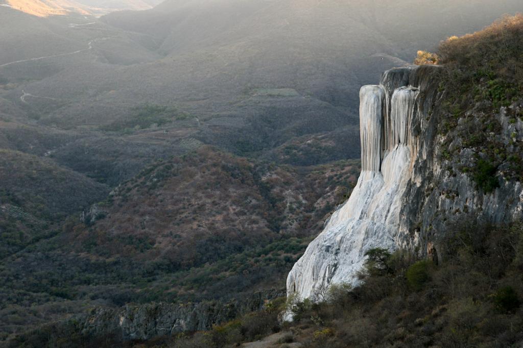 Окаменелые водопады Мексики