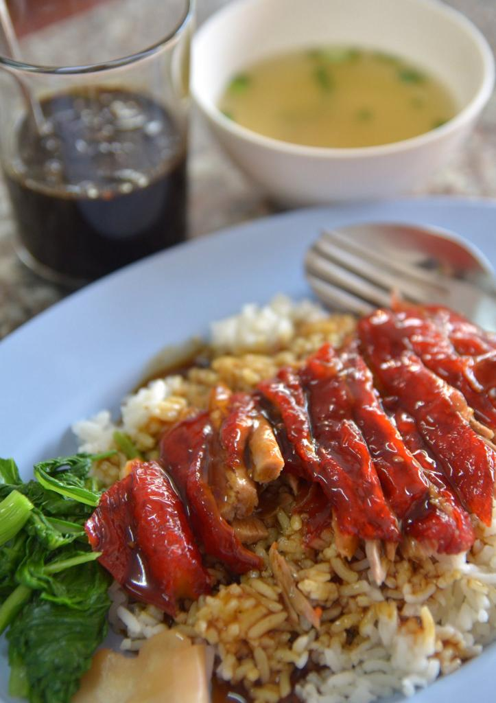 Жаренная утка с рисом. (Takeaway)