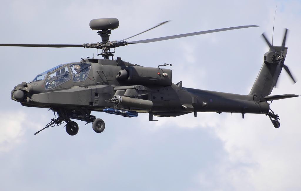AH-64 «Апач» — ударный вертолёт США 80-х; сейчас служит для ВВС Армии Обороны Израиля.