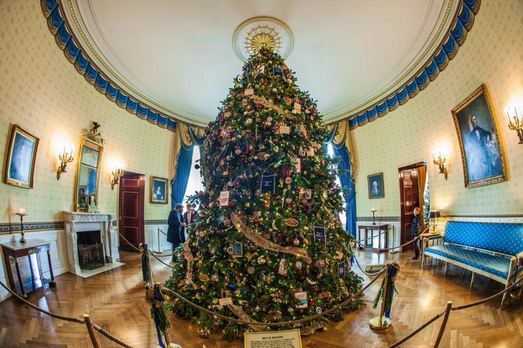 Рождество на пороге. Праздничное убранство Белого дома