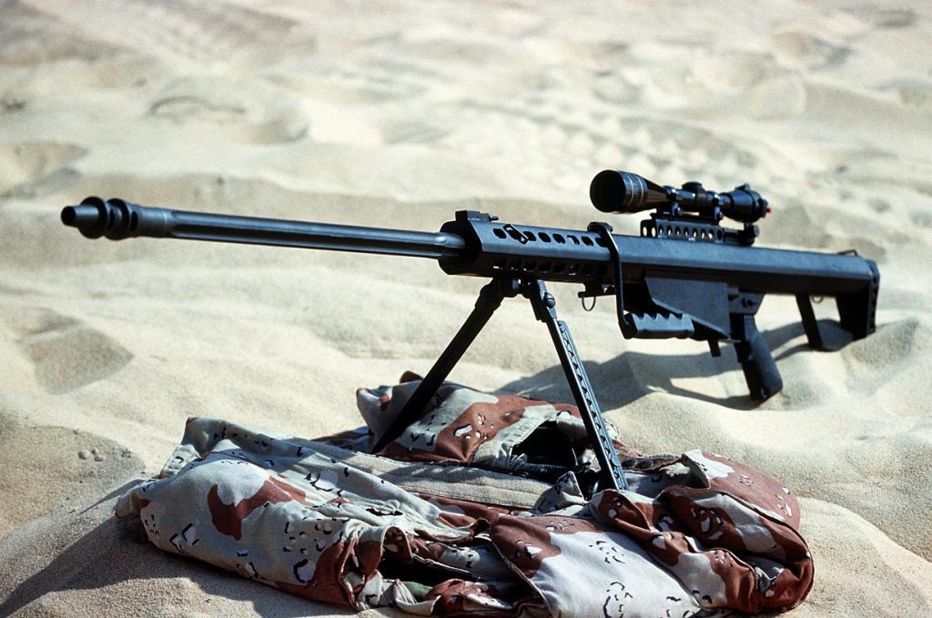 3 место. Самозарядная крупнокалиберная снайперская винтовка M82. Разработана в США. (SPC. HENRY)
