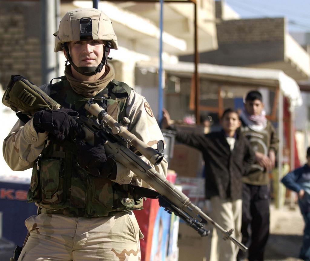 9 место. Снайперская винтовка M21. Разработана в США. (Staff Sgt. Shane A. Cuomo)