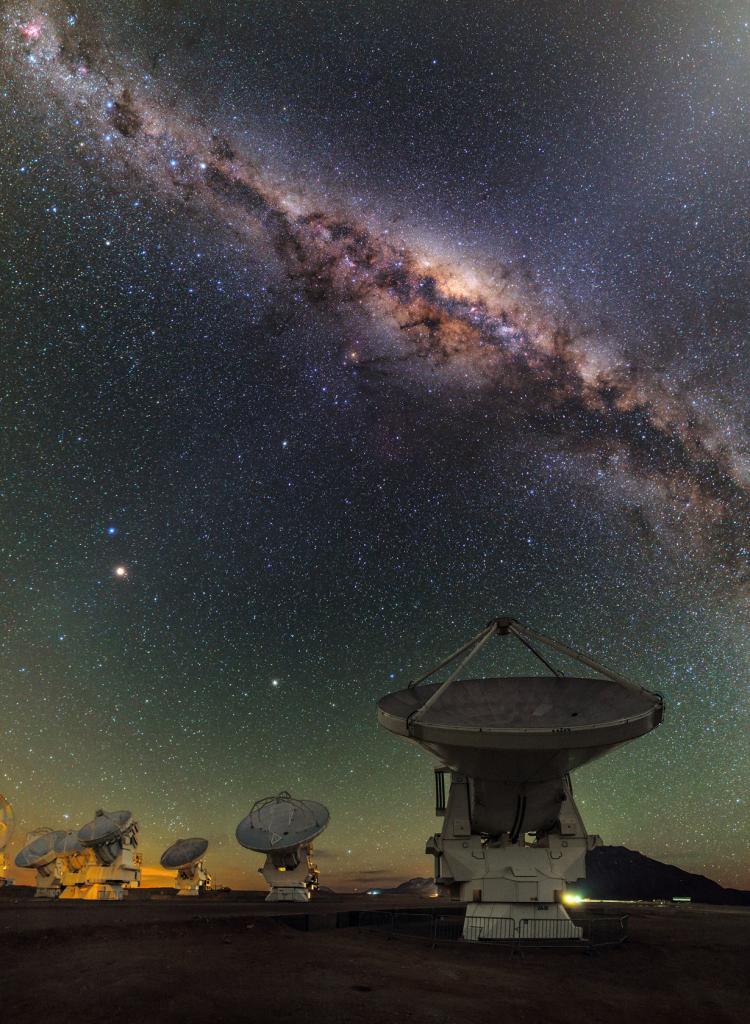 Чили. Пустыня Атакама. (ESO/B. Tafreshi)