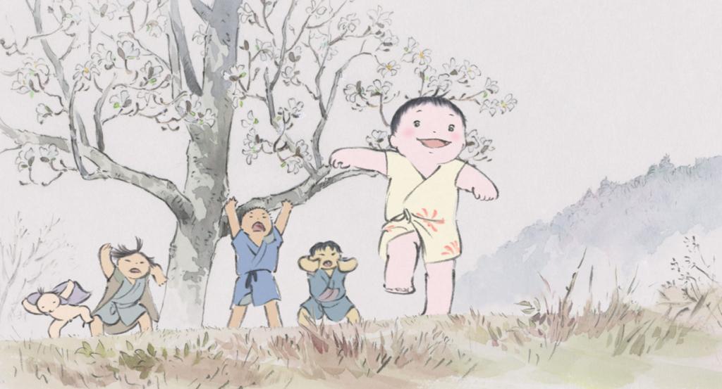 Номинант на премию «Лучший анимационный полнометражный фильм» «Сказание о принцессе Кагуя» студии Ghibli. (Кадр из фильма)