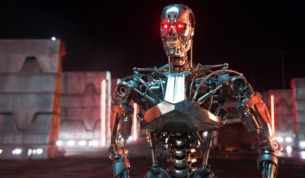 """<strong>""""Терминатор: Генезис"""" (Terminator: Genisys)</strong>. Режиссёр: Алан Тейлор. В ролях: Эмилия Кларк, Джай Кортни, Арнольд Шварценеггер, Дж.К. Симмонс, Мэтт Смит, Джейсон Кларк, Ли Бён Хон. """"I'll be back"""" неизменно говорит старина Шварц и действительно возвращается! Поседевший, потолстевший, но уже и не в главной роли. Тем временем, Сара Коннор и киборги продолжают беготню в пространстве и времени. <strong>Премьера: 22 ноября 2015</strong>. (Skydance Productions/Paramount Pictures)"""
