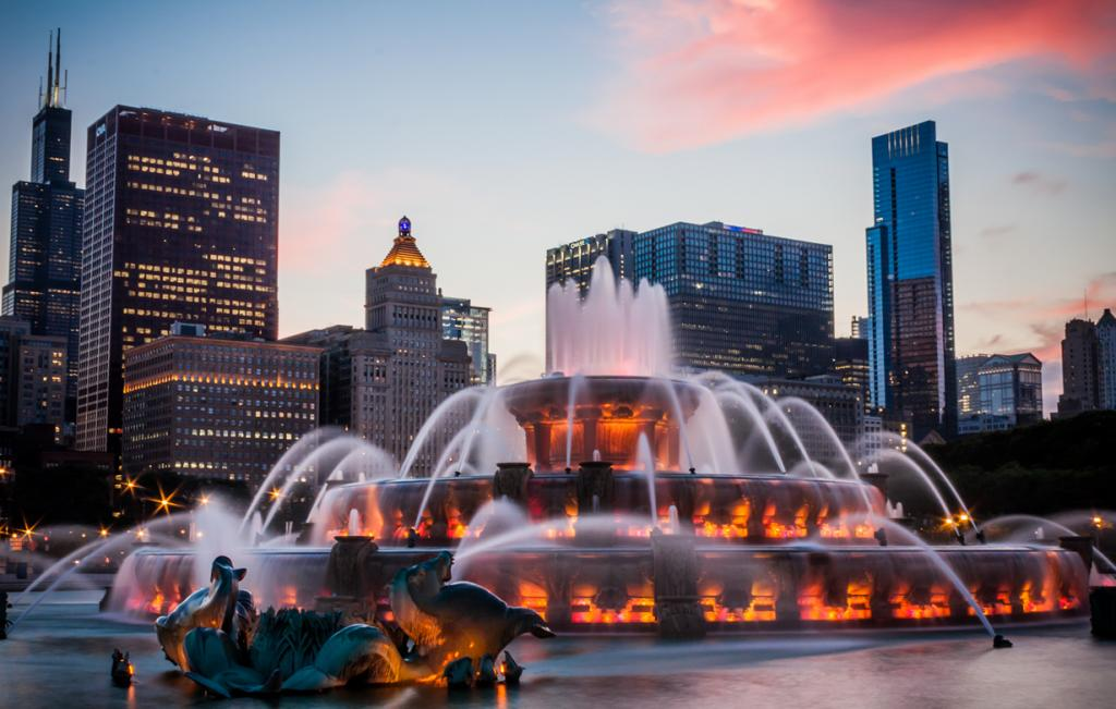 США. Чикаго. Букингемский фонтан. (Anthony Doudt)