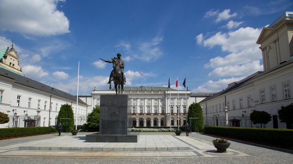Польша. Варшава. Президентский дворец является резиденцией Президента страны. (Markus Winkler)
